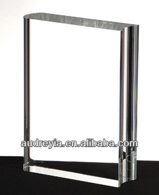 Custom engraving crystal book trophy for sale