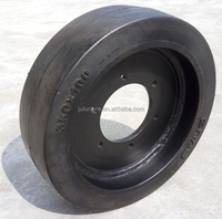 smooth tread tyre, 350*100 solid tyre,cheap price solid tyre