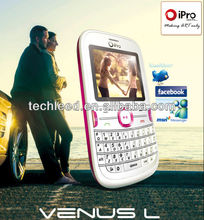 Low end Qwerty Dual Sim iPro mobile phone Venus-L TV function ,1 Camera, 0.3 MP with Flash Light
