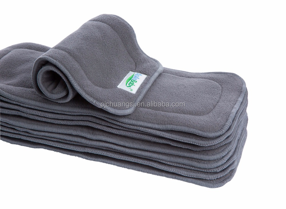 Diaper Inserts Liners Reusable Snap in Bamboo Charcoal Baby Diapers Soaker