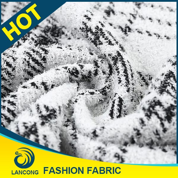 Shaoxing textile manufacturer Garment use Fashion knitted hacci fabric