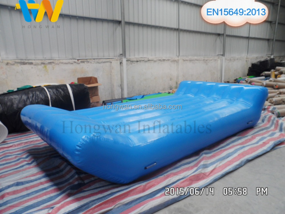 blue inflatable water floating bed sofa