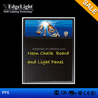 Edgelight PF5 LED flat panel displays , single side plastic LED display board , Neon chalk writing board
