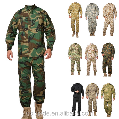 China manufacturer custom camouflage military uniform