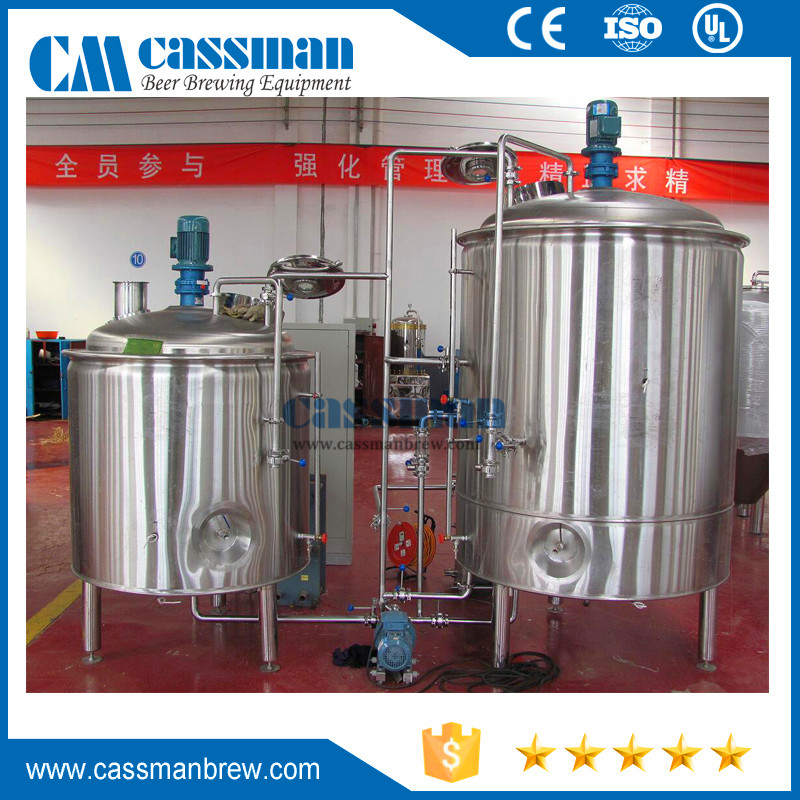 Turnkey craft beer brewing microbrewery system 5hl brewery equipment