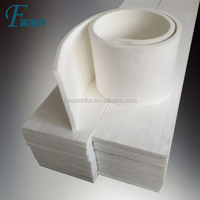 1mm 3mm 5mm pure white 100% white wool pressed felt