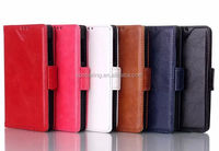 Luxury Wallet leather case pouch for htc one M7 Stand leather case