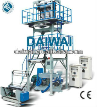 Blow machine automatic with double screw and double winding unit, control by YASKAWA inverter