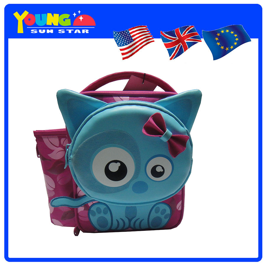 Fashion 600D New Design Frozen Cooler Lunch Bags For Kids