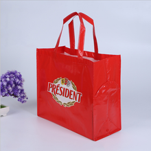 flat bottom nonwoven bag Color cheap printed non woven handmade fabric shopping bag