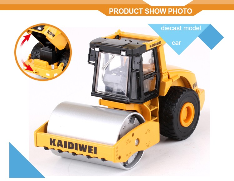 Alloy Mini Road Roller Scale Model 1:50 Diecast Model Car