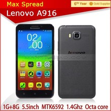 Original Lenovo A916 4G LTE FDD phone mtk6592 Octa Core 1GB RAM Android 4.4 play store movil