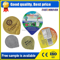 Pre-Cut Hot Sealing Embossed Aluminum Foil Yogurt Cup Lids