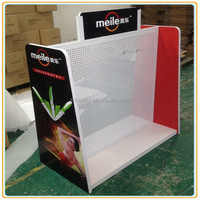 Customized double side metal grid hook display stand for knife display