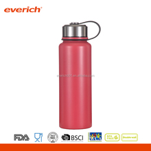2016 New arrival Double Wall 18/8 steel Drink Water Bottle With Custom Color