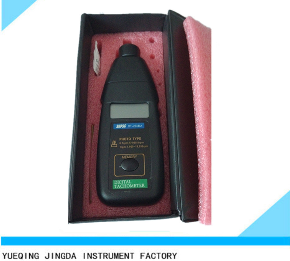 DT2234B Digital Laser Photo Tractor Tachometer For Electric Motors Non Contact RPM Tach Analog Tachometer 2.5 to 99,999 RPM