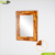 Simple design wall mounted mirror with teak wood frame waterproof and anti-corrosive suitable bathroom hallway or living room