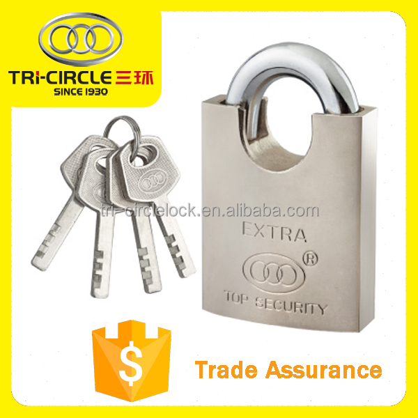 Tricircle Oval Wrapped Beam Brass Padlock BR401-801