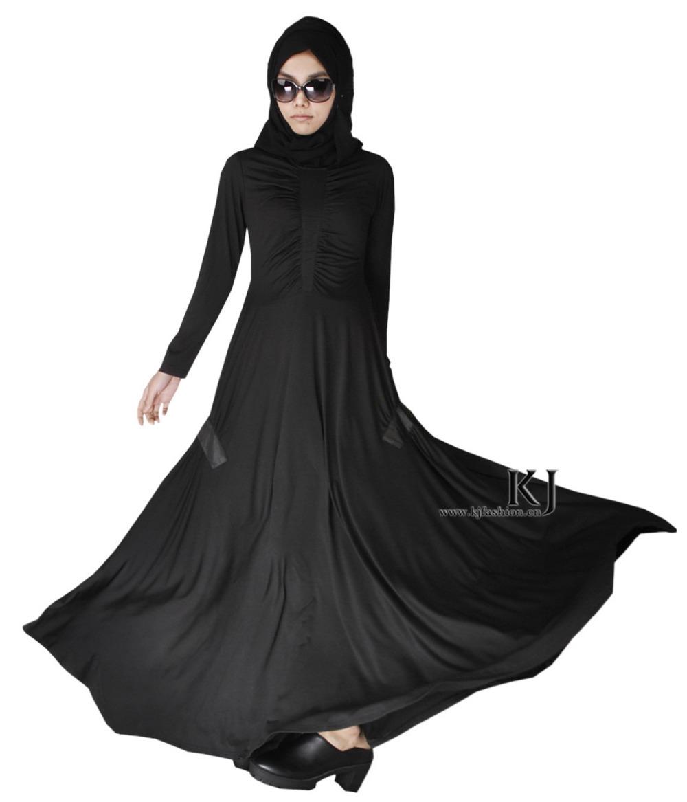 Buy 2015 New Fashion Black Cotton Abaya Traditional Islamic Clothing ...