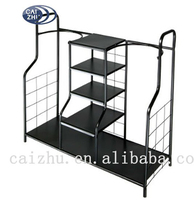 2016 China supplier stainless steel golf bag storage rack for ball and shoe