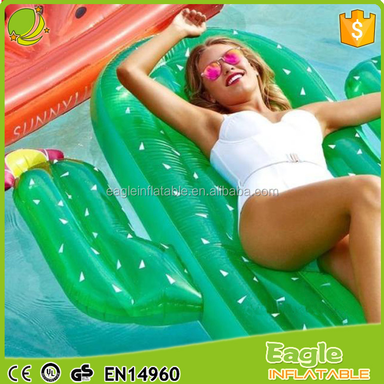 2017 New Inflatable Cactus Swimming Pool Float Giant Party Cactus Air Bed Lounge Toy