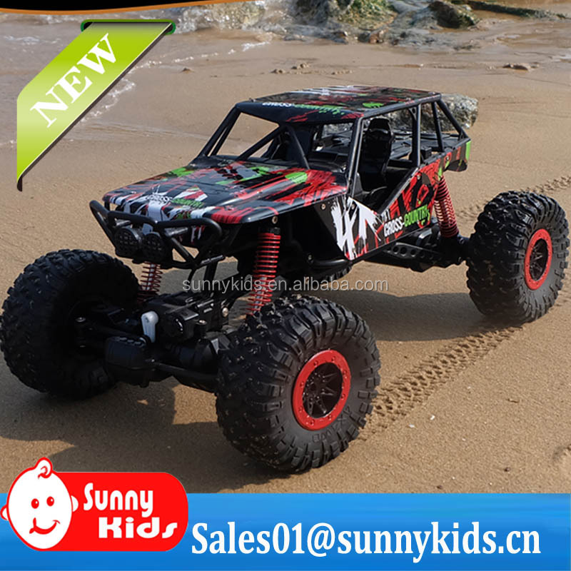 1:10 Scale 2.4G RC Four wheel Drive Car big Rock Crawler Remote Control Car Model Off Road Vehicle Toy RC Cars Kids Xmas Gifts