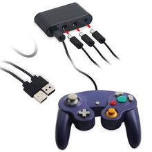 USB Converter Gamecube NGC Controller Adapter for <strong>Wii</strong> U /Switch and PC Upgrade Version