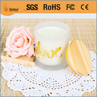 soy wax scented glass candle jar