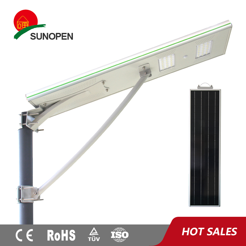 China Manufacturer outdoor built-in integrated 30W led street light using solar panel