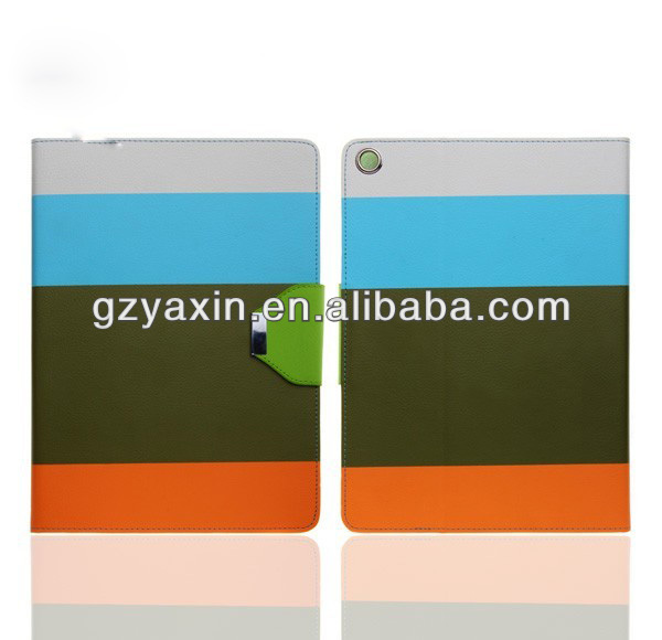 simple style pu for iphone 5 leather case,100% fit for iPad 5 case(OEM Factory)