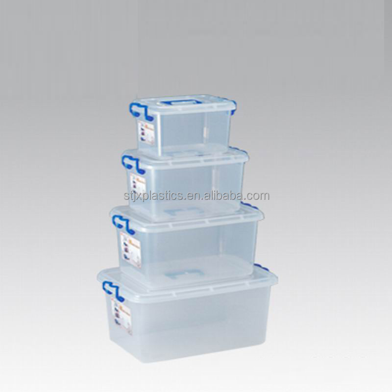 20l attached lid large clear pp plastic storage container for Decor 6l container