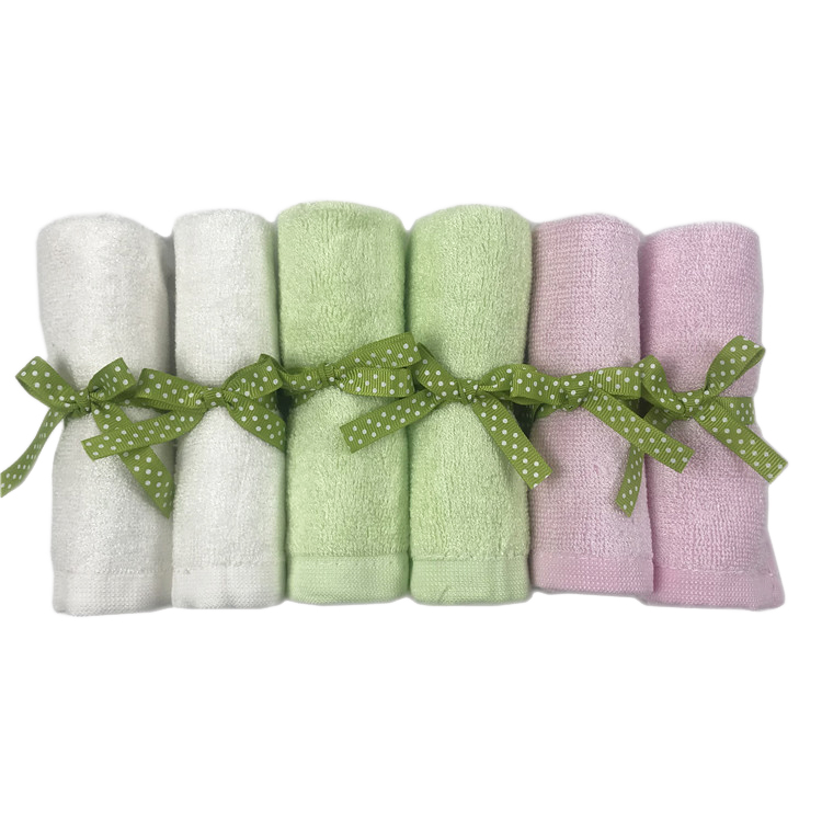 Wholesale pack baby washcloths 100% organic bamboo baby washcloths