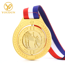 Concise design running sports medal with custom logo