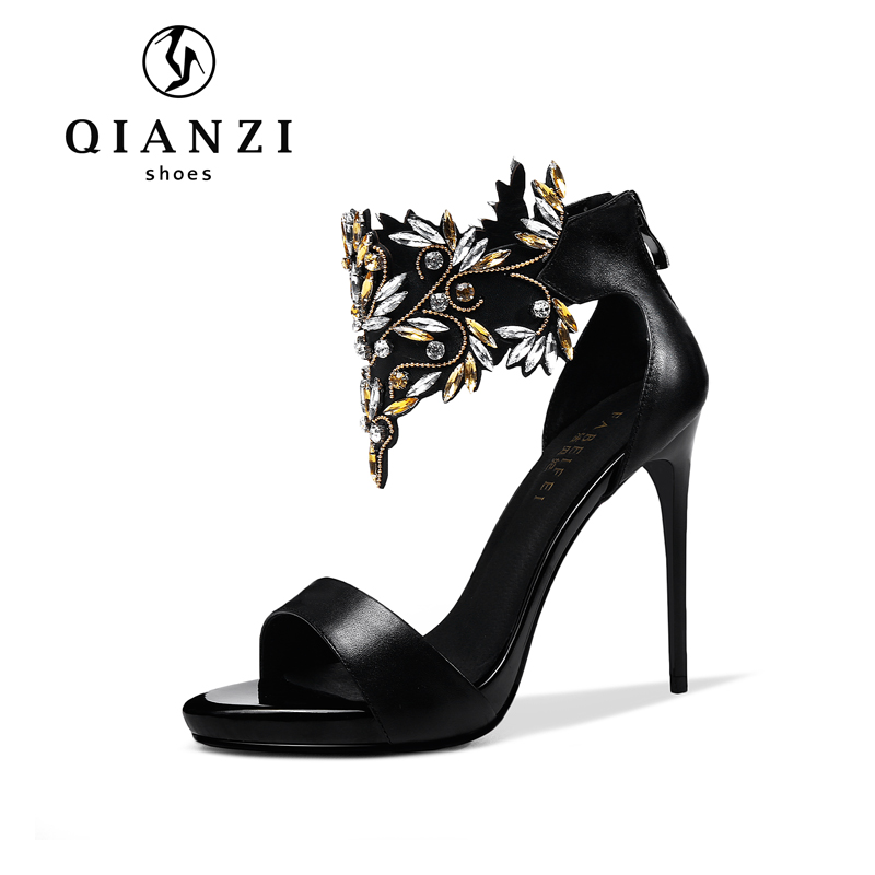 L152 extremely beautiful shining female heels shoes sandalias for women online