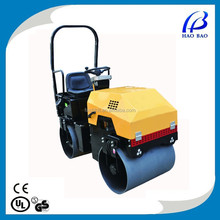 YL1000ZS Best seller!!! High quality steel wheel hydraulic vibratory rubber tire road roller for sale