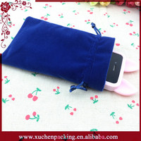 New Design Promotional Colored Iphone 6 Velvet Pouch For Iphone