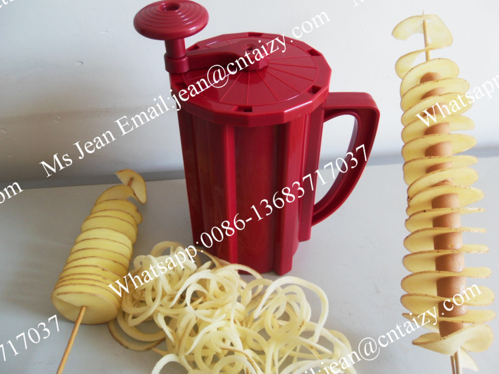 Mini Fridge Hand Spiral Twister Tornado Potato Chips Cutting Making Machines