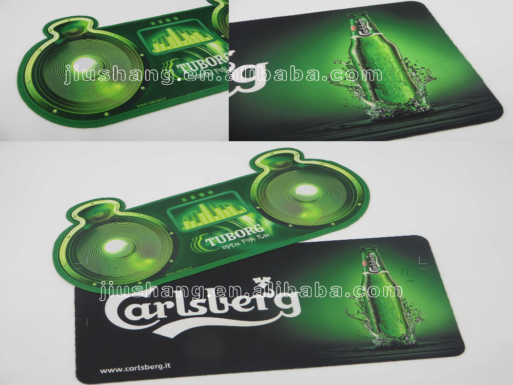 PVC rubber bar spill mat with logo full color printing