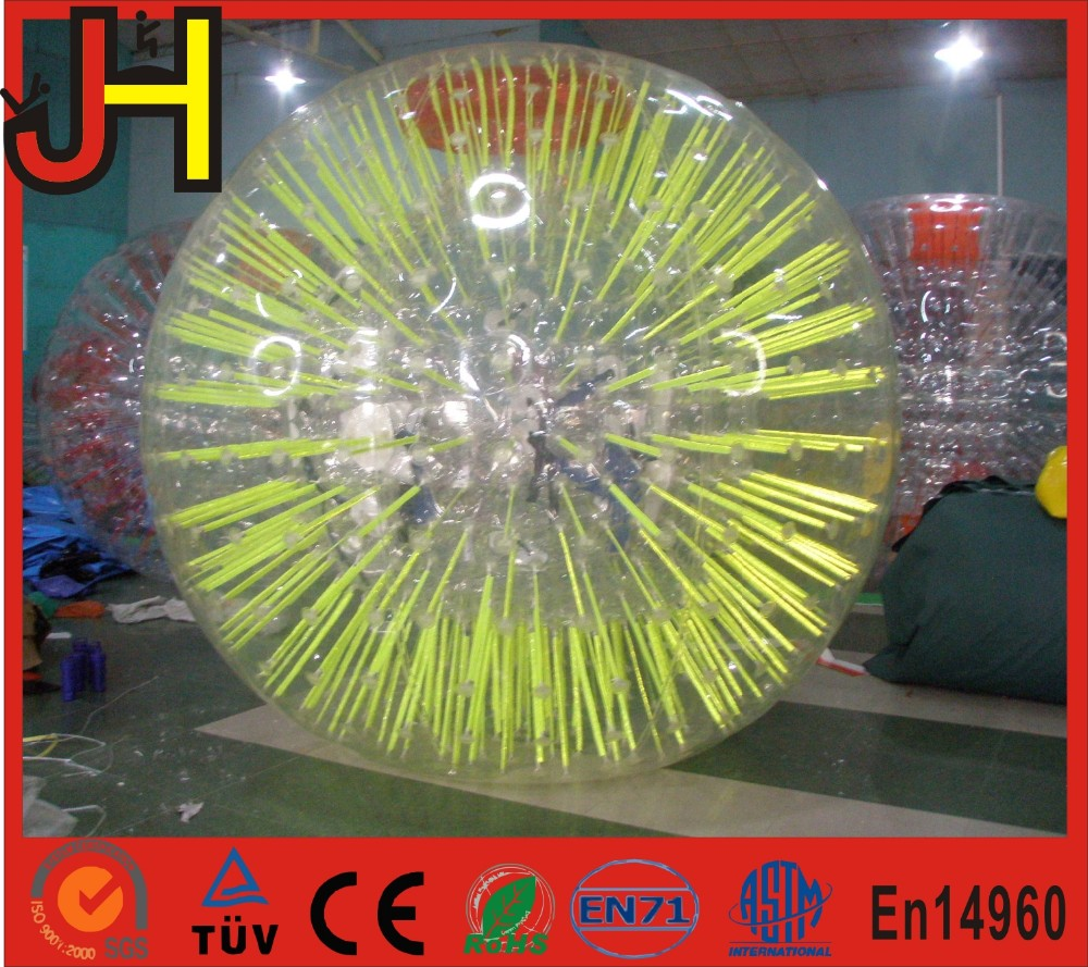 Hot sale fluorescent zorb ball, shining zorb ball, giant zorb body ball For children