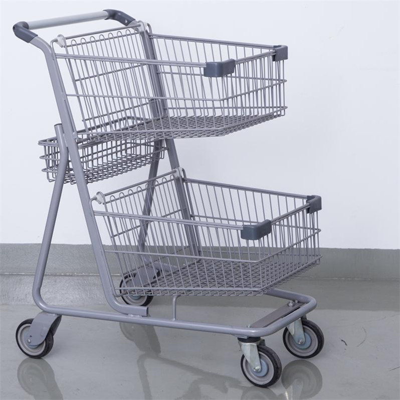 Used shopping mall equipment 2-tier shopping go cart from yiwu market