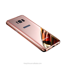 KXX Aluminum mirror cases for samsung s8 s8 plus anti-drop metal bumper case