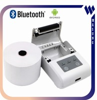 Bluetooth /RS232 interface type portable barcode printer