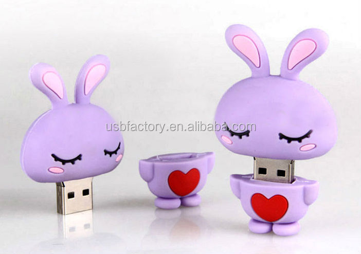 Lovely Rabbit USB Disk, Flash Memory Pen Drive, 2GB USB Flash Drive Chinese Zodiac Rabbit sticks pens gadbets