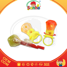 Light up plastic Ring candy lollipop