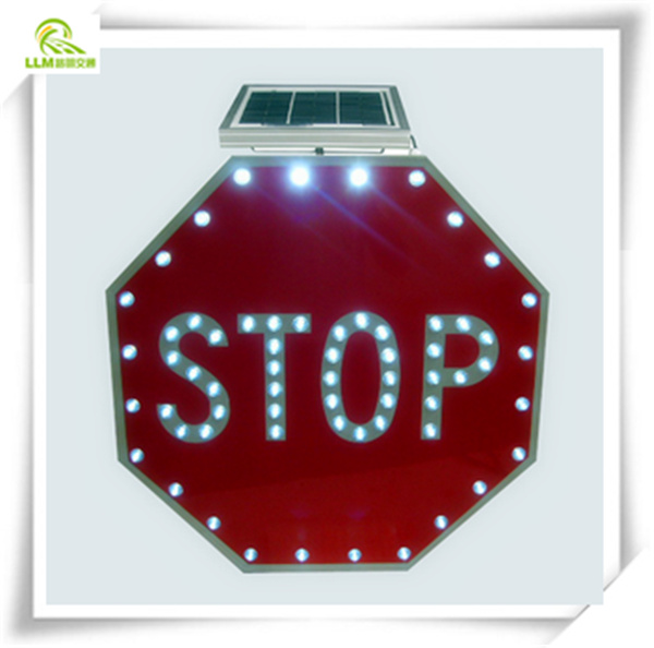 IP65 waterproof seamless aluminum hexagon LED lighting solar traffic stop sign