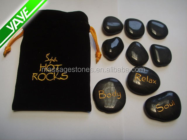 engraved massage hot stone body massage