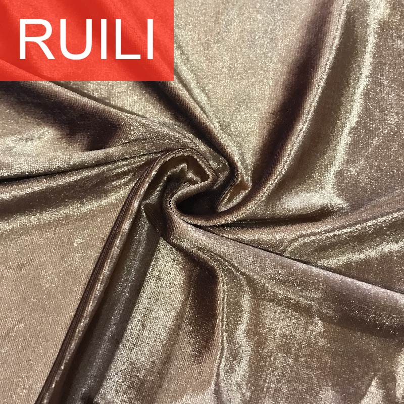 100% polyester velour with foil fabric for garment