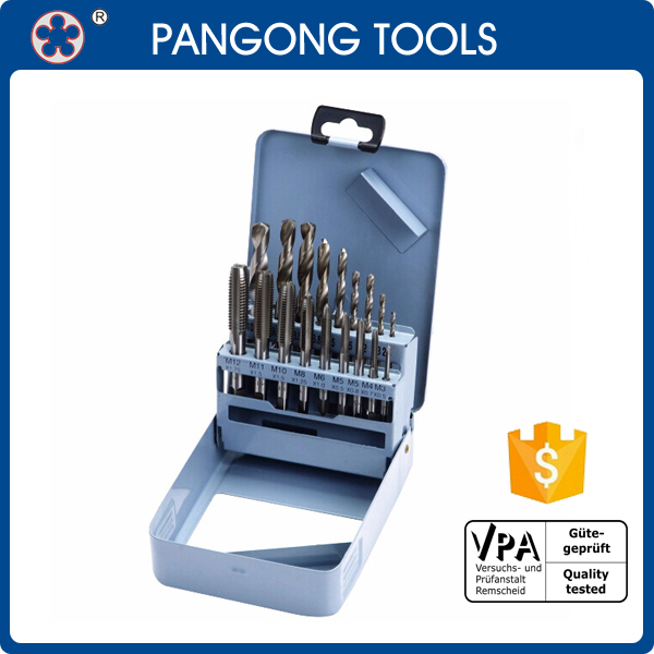 18 Piece High Speed Steel Tap and Drill Combo Set