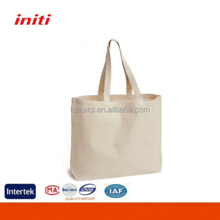 Promotional Plain white cotton canvas tote bag