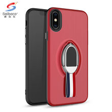 SAIBORO ring holder kickstand ladies case.bulk cheap shockproof tpu+pc cell phone case for iphone x cases designs